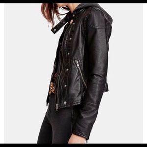 NWOT Vegan Free People Leather Jacket